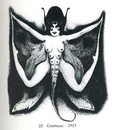 Alberto Martini - 'Grottesca', from 'L'opera grafica di Alberto Martini' by Francesco Meloni, 1915