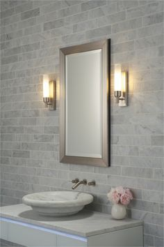 Bathroom Top Side Lights For Mirror Decor Modern On From