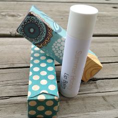 Quick Tip: Make Pretty Lip Balm Packaging Using Spare Card & Paper