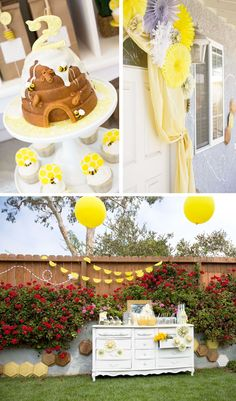 Adorable bee-themed bday party.