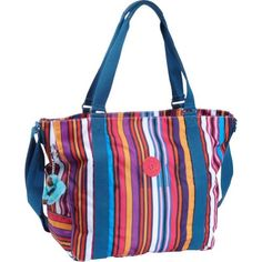 Special Offers Available Click Image Above: Kipling Adara Medium Print Tote Bag Aubergine Stripe - Kipling Fabric Handbags Kipling Bags, Kipling Handbags, Fabric Handbags, Printed Tote Bags, Girls Bags, School Bags, Purses And Bags, Diaper Bag, Girl Outfits