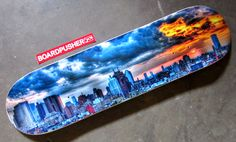 """Christopher Wright turned his photograph """"New York City Light Rendition at Sunset"""" into today's Featured Deck. You can see more of Christopher's stunning fine art photography at www.cwrightartistry.com.  www.BoardPusher.com"""