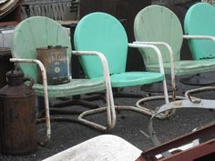 My Great Grandparents had chairs like these, and I used to sit in them every time I visited because you could bounce in them.