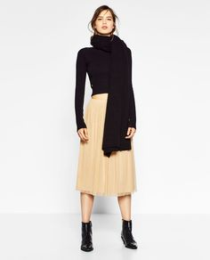 Image 1 of TULLE MIDI SKIRT from Zara