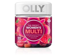 OLLY The Perfect Womens Gummy Multivitamin 45 Day Supply Gummies) Blissful Berry Vitamins A D C E Biotin Folic Acid Chewable Supplement Olly Vitamins, Vitamins For Kids, Good Multivitamin For Women, Best Multivitamin, Vitamin D Calcium, Chewable Vitamins, Thyroid Vitamins, Health Vitamins, Women's Health