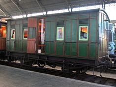 Museo del Ferrocarril de Madrid. Estación de Delicias. Coche de tercera clase C-16 (The Ashbury Railway Carriage & Iron Co. Ltd., Gran Bretaña, ca. 1890)