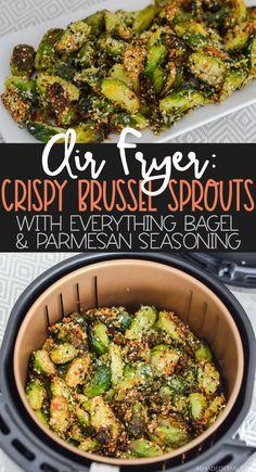 Air Fryer Oven Recipes, Air Frier Recipes, Air Fryer Dinner Recipes, Air Fryer Recipes Vegetarian, Sprout Recipes, Veggie Recipes, Cooking Recipes, Healthy Recipes, Ninja Recipes