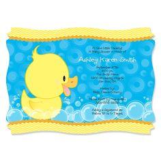 Ducky Duck - Personalizados Invitaciones Baby Shower | BigDotOfHappiness.com