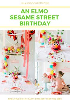 My friend Ashley is the same way and she plans some epic parties for her daughters! Ashley decided to do a Sesame Street Elmo birthday for her sweet daughter Story and of course it left me swooning! I'm excited to share it with you today and I hope you feel inspired when planning your next event.