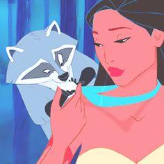 Pocahontas and Meeko Pocahontas Disney, Princess Pocahontas, Disney Princesses, Disney And Dreamworks, Disney Pixar, Walt Disney, Disney And More, Disney Love, Disney Magic