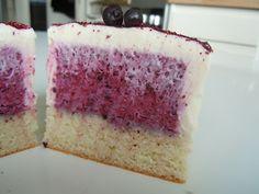 Blåbær-hyldeblomst moussekage