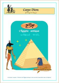 ACTIVITE - Lapbook : L'Egypte antique -  L'histoire de l'Egypte antique et des activités à découper, coller, compléter et assembler dans un lapbook.