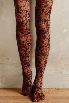 Ditsy Tights @ Anthropologie
