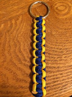 Paracord Keychain University of Michigan Blue by SkyPixieDesigns