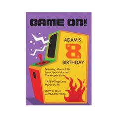 Boy's Arcade, Video games, Birthday Party Invitations      http://rlv.zcache.com/arcade_video_game_birthday_party_invitations-p161487000424165646en7le_325.jpg