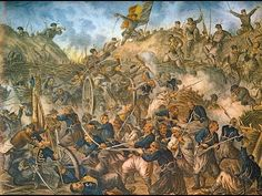 The Siege of Plevna, or Siege of Pleven, was a major battle of the Russo-Turkish War fought by the joint army of Russia and Romania against the O. Independence War, 9 Mai, Knights Templar, World War One, Ottoman Empire, Military History, Artist Painting, Macedonia, Art Drawings