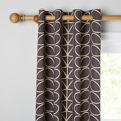 Buy Orla Kiely Linear Stem Lined Eyelet Curtains Online at johnlewis.com