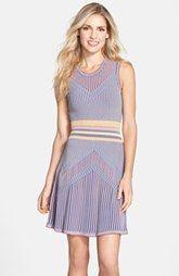 BCBGMAXAZRIA 'Wilma' Fit & Flare Sweater Dress