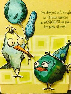 Another crazy bird card