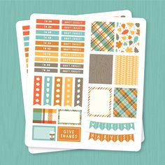 FREE Printable Fall Planner Stickers - Three Cheers + Co