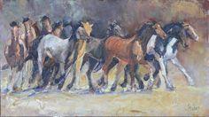 Better than a single horse is a herd, as captured by Loveland artist Linda Prokop.