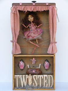 Twisted Amusement - Mixed Media Doll Assemblage by Yesterday's Trash artist Michelle Bernard via Etsy.