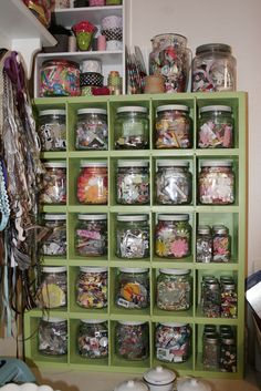 My sister-in-law gave me a white shelf like this I just need to find a jar that fits.