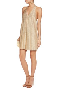 Shop on-sale Alice + Olivia Holland metallic silk-blend mini dress. Browse other discount designer Dresses & more on The Most Fashionable Fashion Outlet, THE OUTNET.COM