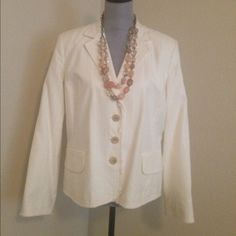 Gorgeous Banana Republic blazer Distressed edges, lined blazer. Used once for an interview, dry cleaned and stored.  Too tight in the arms for me.  Love it but can't wear it. Banana Republic Jackets & Coats Blazers