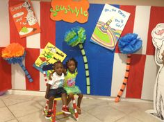 Bday boy and cousin in picture area