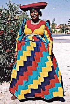 SAHARAN VIBE: HERERO LADIES OF NAMIBIA - AFRICAS VICTORIAN STYLE FASHIONISTAS!