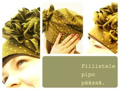 DIY trikoo pipo, tricot hat with roses Scarf Tutorial, Beanie Hats, Beanies, Refashion, Sewing Tutorials, Diy Clothes, Tees, Shirts, Fabric