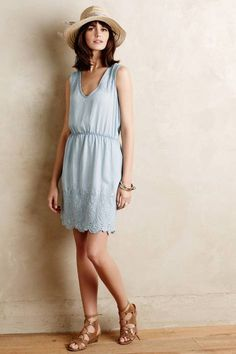Embroidered Chambray Dress by Holding Horses