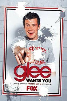 Glee Cory Monteith, Finn Hudson, Glee Club