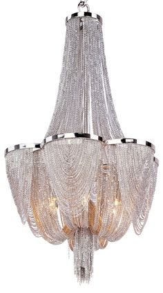 Chantilly 6-Light Chandelier, Nickel