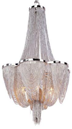 Chantilly 6-Light Chandelier, Nickel