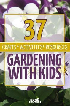 Gardening with kids can be fun. and challenging. This amazing resource includes crafts activities printables and more for gardening with kids - a fun spring and summer activity for toddlers preschoolers and older. Summer Activities For Toddlers, Spring Activities, Preschool Activities, Outdoor Activities, Tips And Tricks, Lisa Del Piero, Vegetables For Babies, Workshop, Diy Garden Projects