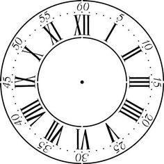 Winterthur Roman Numeral Clockface Wall Stencil (30) Desi...