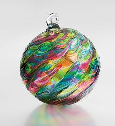 "Love glass ornaments for the same reason I loved playing marbles as a kid. mesmerizing. ""Serenade"" by Michael Trimpol"