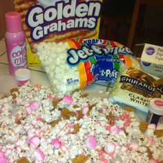 """S'Mores Popcorn """"pinked out"""" for a Breast Cancer Awareness Fundraiser"""