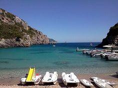 Corfu, Mar, Playa, El Agua, Sol