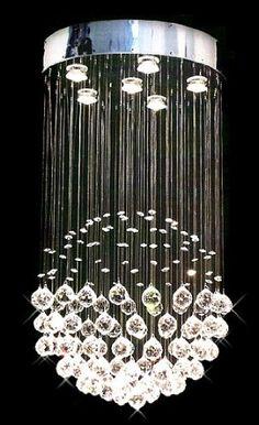 Modern Round Rain Drop Chandelier > $203.99 Six Lights - http://chandeliertop.com/modern-orb-globe-chandelier-203-99/