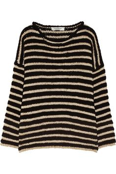 Yves Saint LaurentStriped metallic knitted sweater