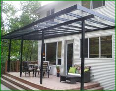 simple patio cover to let light in. decomilan | outdoor space ... - Simple Patio Cover Ideas