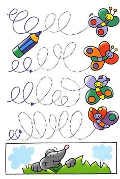 Great for their fine motor skills. Tracing Worksheets, Preschool Worksheets, Preschool Activities, Pre Writing, Writing Skills, Nursery School, Kids Education, Teaching English, Pre School