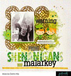 Warning, Prone to Shenanigans and Marlarkey - Scrapbook.com
