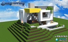 Modern Easy Living Home At Wok Minecraft Map Box Houses