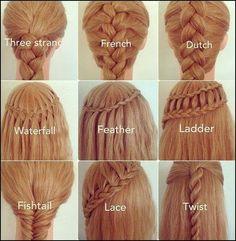hairstyles for long medium short hair @Marisol Barrera Barrera Barrera Barrera Munoz I found my weird braid lol! it's dutch!!  @ http://seduhairstylestips.com