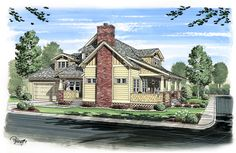 House Plan 56574 | Bungalow Cabin Cottage Craftsman Plan with 2319 Sq. Ft., 3 Bedrooms, 3 Bathrooms, 2 Car Garage at family home plans