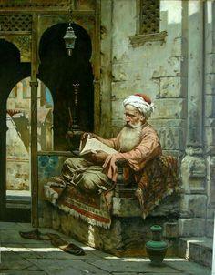 Wise man reading